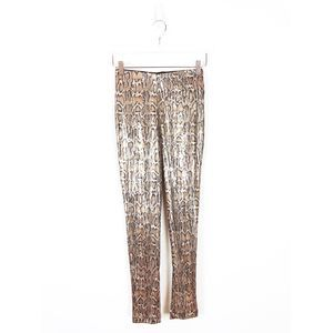 Urban Outfitters Snake Print Sequin Skinny Pants